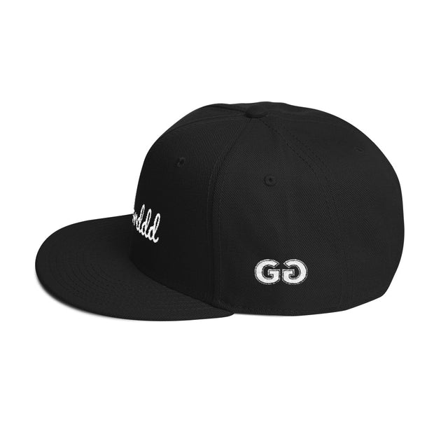 Worddd Black Snapback | G.O.A.T. GRAPHICS
