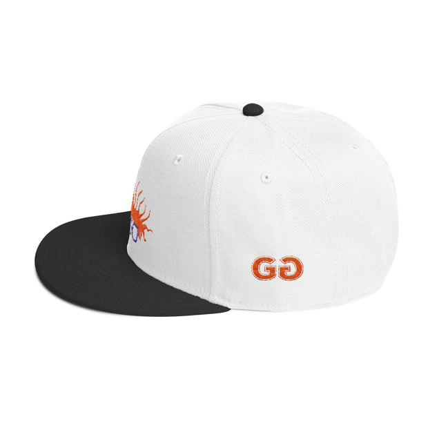 Chuckaroo's Head White/Black Snapback | G.O.A.T. GRAPHICS