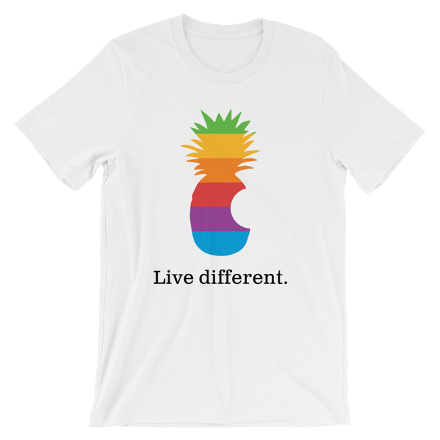 Copy of Live Different. White Tee | G.O.A.T. GRAPHICS
