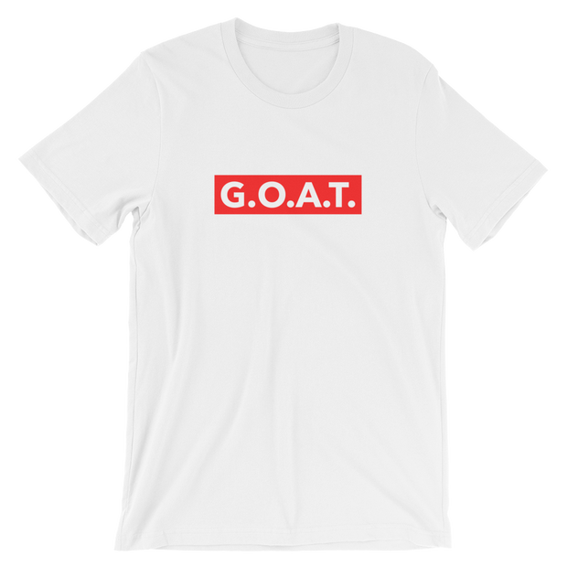 G.O.A.T. Skater White Tee | G.O.A.T. GRAPHICS