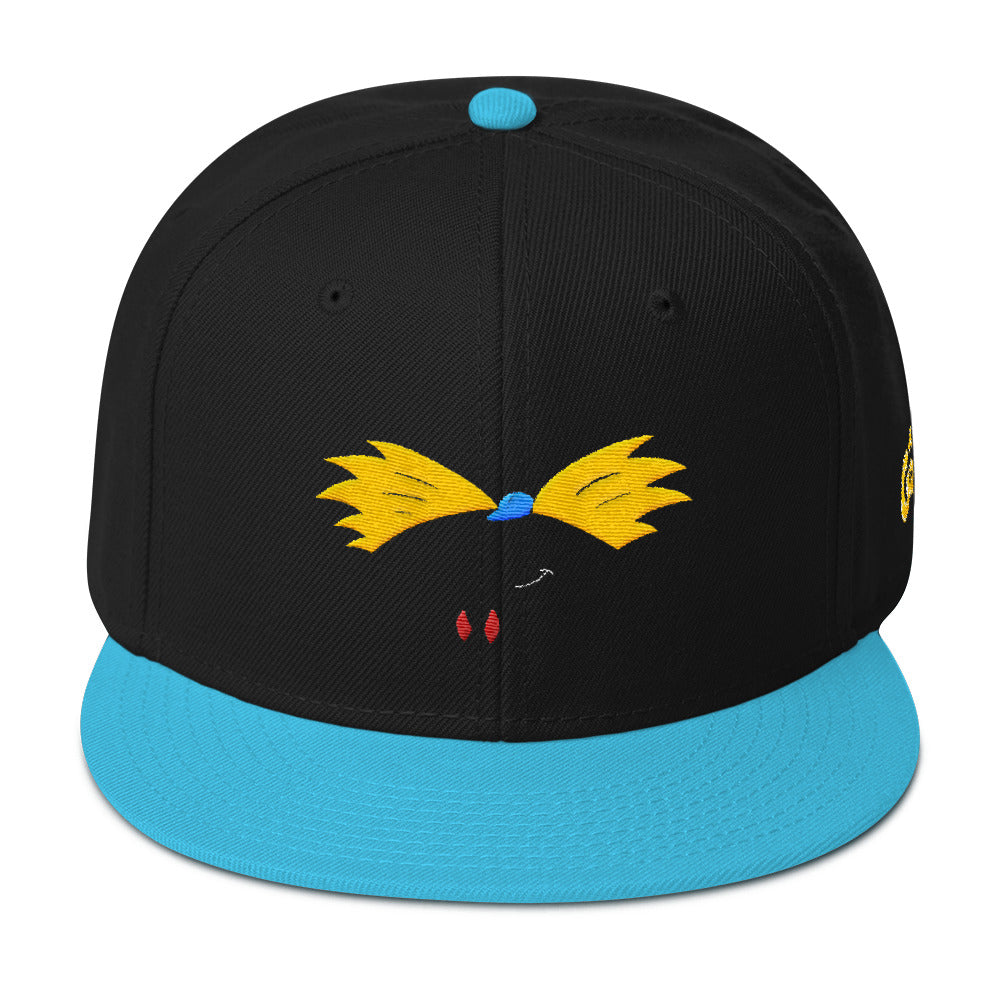Football Head Black/Aqua Snapback
