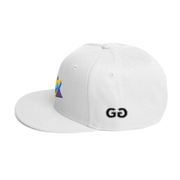 TwistedTriangles White Snapback | G.O.A.T. GRAPHICS