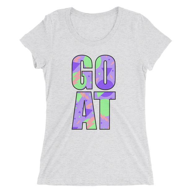 GOAT Ladies White Tee | G.O.A.T. GRAPHICS