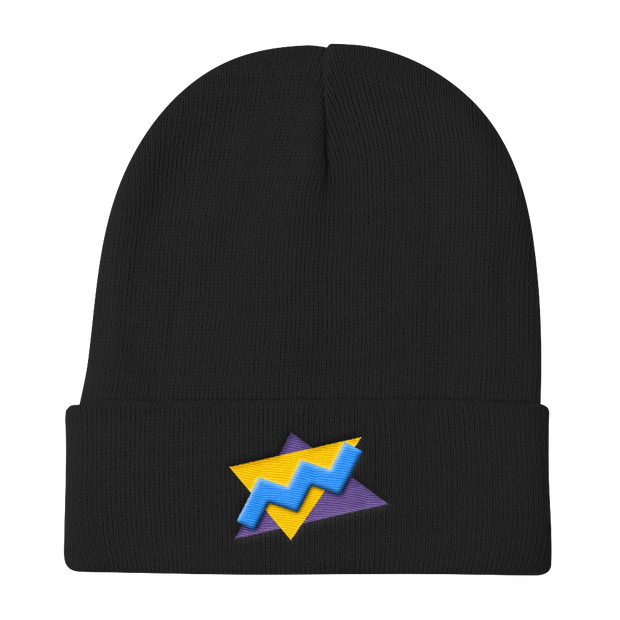 TwistedTriangles Black Beanie | G.O.A.T. GRAPHICS