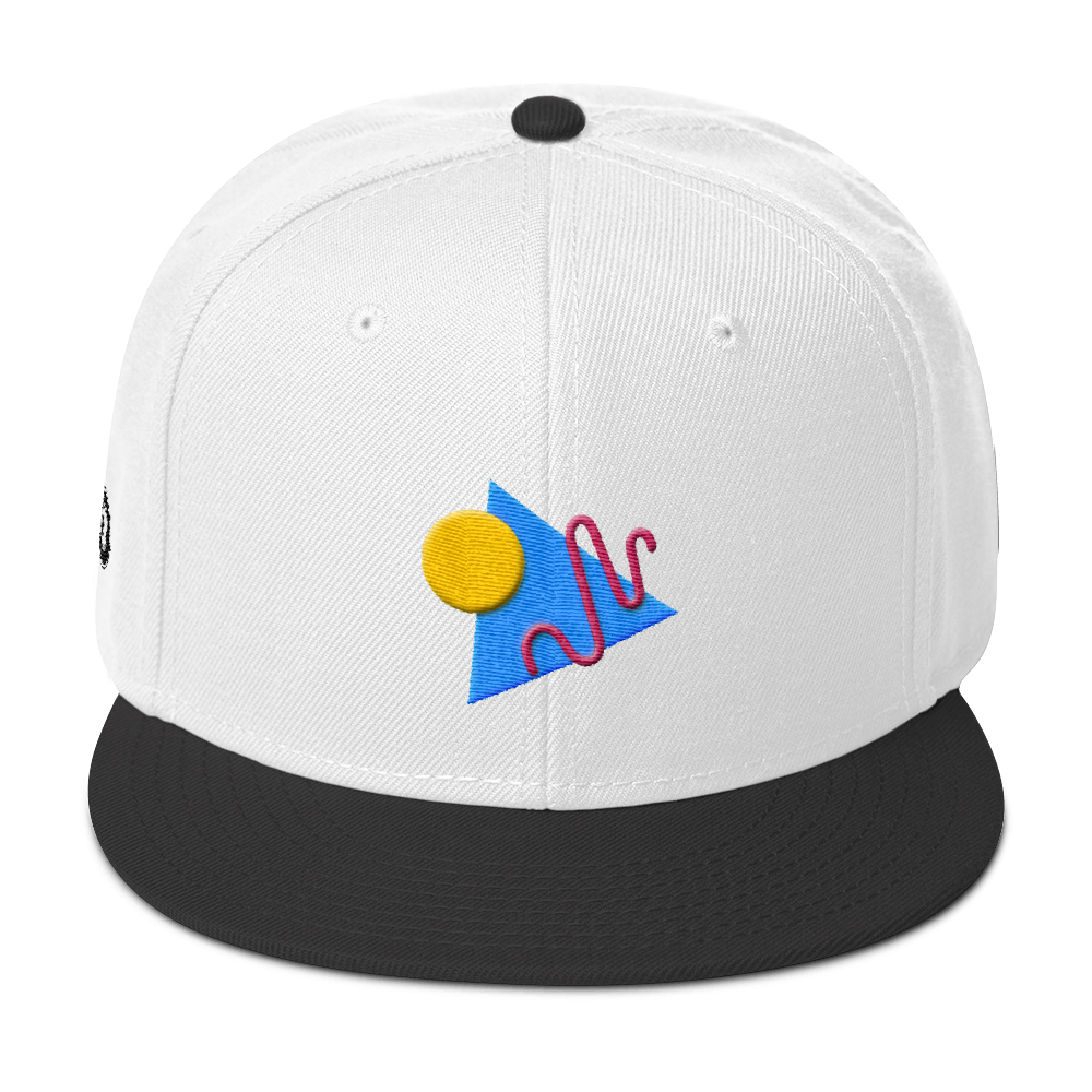 ShapeConfetti White/Black Snapback
