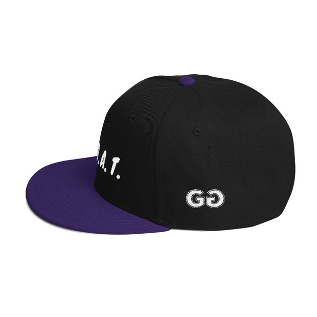 G.O.A.T. Black/Purple Snapback | G.O.A.T. GRAPHICS