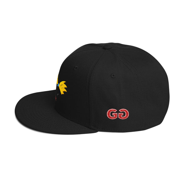 Football Head Black Snapback | G.O.A.T. GRAPHICS
