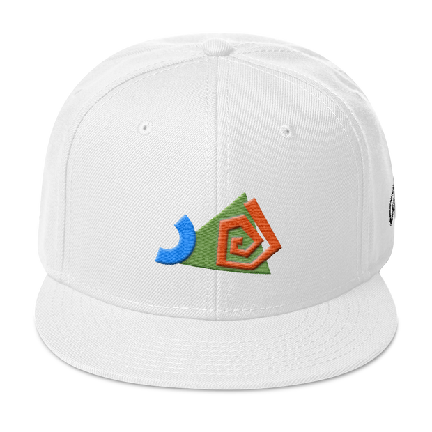 SwirledShapes White Snapback | G.O.A.T. GRAPHICS