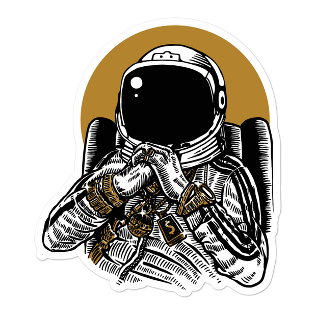 Space Deejay Bubble-free Sticker | G.O.A.T. GRAPHICS