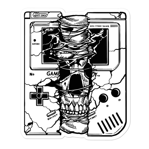 GameSkull Bubble-free Sticker | G.O.A.T. GRAPHICS