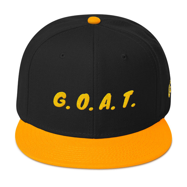 G.O.A.T. Black/Yellow Snapback | G.O.A.T. GRAPHICS