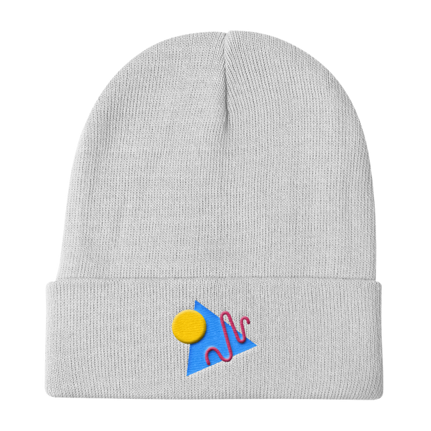 ShapeConfetti White Beanie | G.O.A.T. GRAPHICS