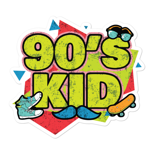 90's Kid Bubble-free Sticker | G.O.A.T. GRAPHICS