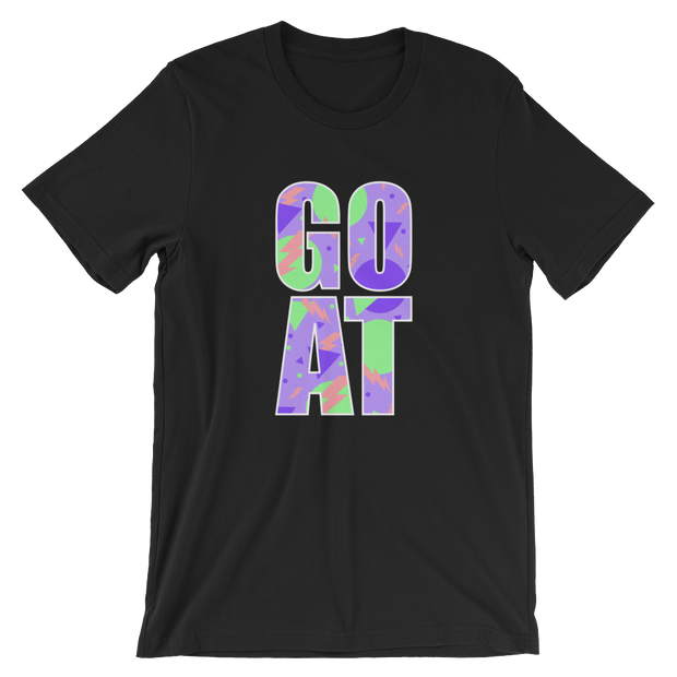 G.O.A.T. Purple/Green Black Tee | G.O.A.T. GRAPHICS