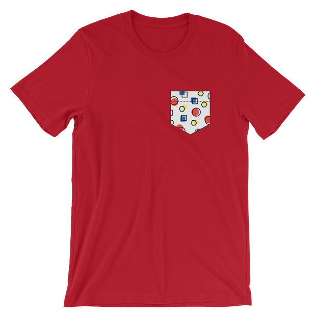 Fake Pocket: Memphis Style Red Tee | G.O.A.T. GRAPHICS