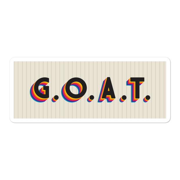G.O.A.T. VHS Bubble-free Sticker | G.O.A.T. GRAPHICS