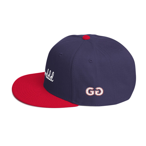 Worddd Navy/Red Snapback | G.O.A.T. GRAPHICS