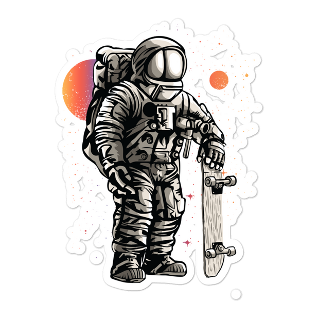 SpaceSkater Bubble-free Sticker | G.O.A.T. GRAPHICS