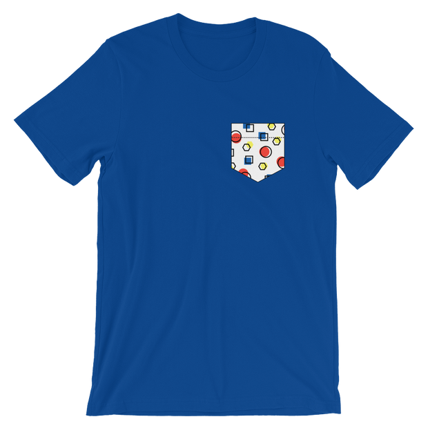 Fake Pocket: Memphis Style Blue Tee | G.O.A.T. GRAPHICS