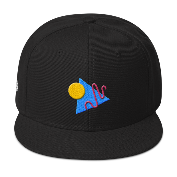 ShapeConfetti Black Snapback | G.O.A.T. GRAPHICS