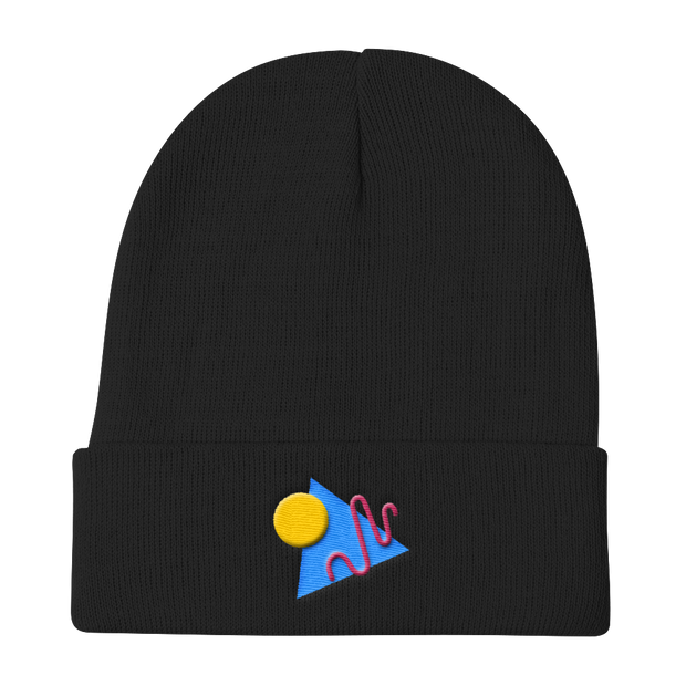 ShapeConfetti Black Beanie | G.O.A.T. GRAPHICS
