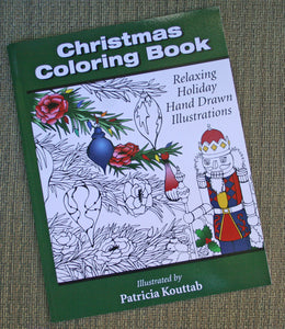Christmas Coloring Book, Relaxing Holiday Hand Drawn Illustrations