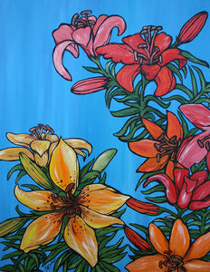 """The Tall Lillies"" Original Painting"
