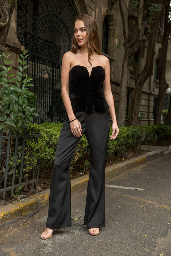Jumpsuit negro con gris - ICONYWEAR