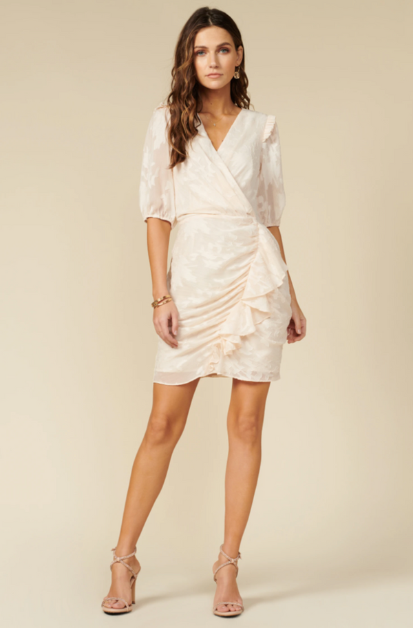 "Vestido ""wrap dress"" Ivory - ICONYWEAR"