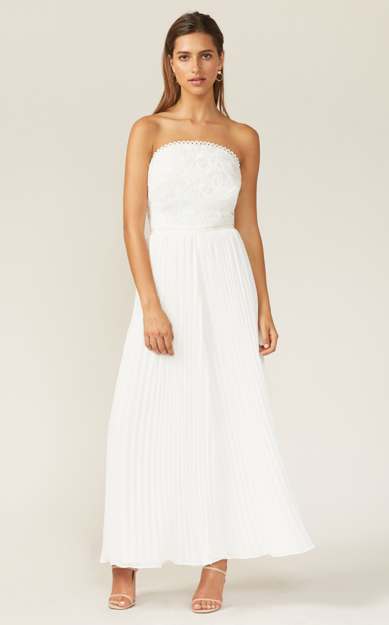 Jumpsuit blanco strapless - ICONYWEAR