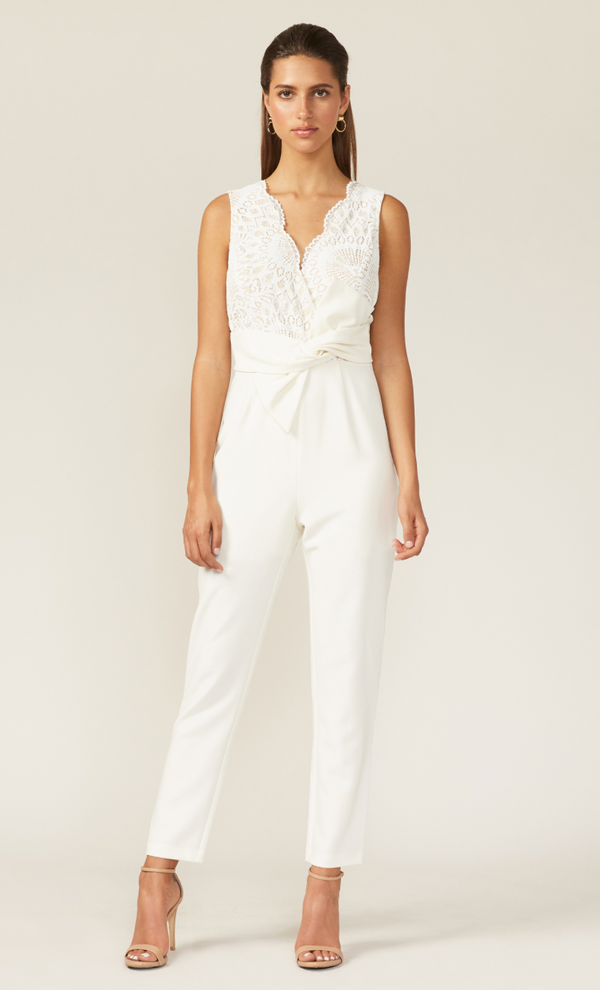 Jumpsuit blanco emery - ICONYWEAR