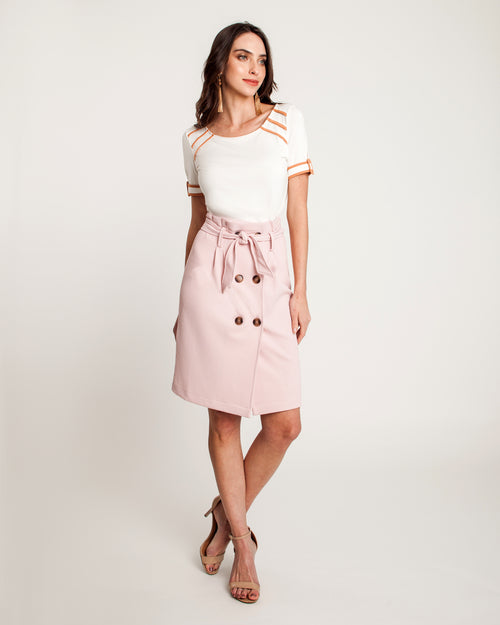 Saia Trench Wafle Rosa