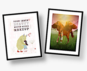 Uniquely Designed - Children's Mounted Prints