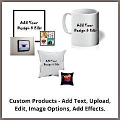 Custom Products - Add Text, Upload, Edit, Image Options, Add Effects