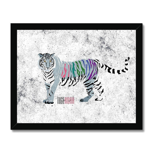 Abstract Tiger  Framed Print - Treat Haven