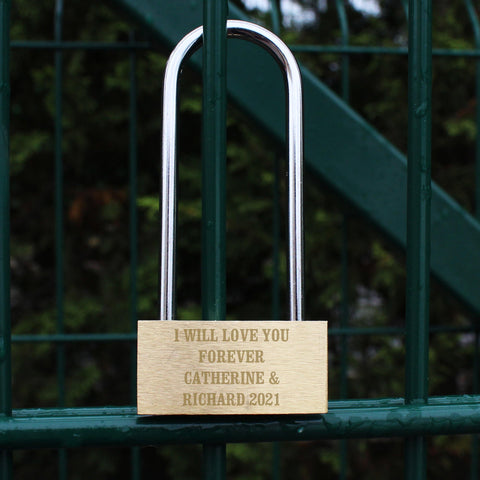 Personalised Padlock - Add Any Message
