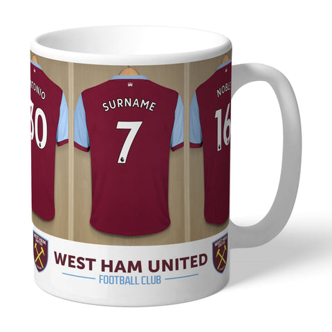 Personalised Dressing Room Mug - West Ham United FC - Treat Haven
