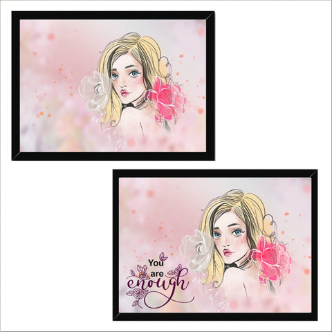 Beauty Portrait Landscape Framed Print D - Customise & Add Text/Quote - Treat Haven