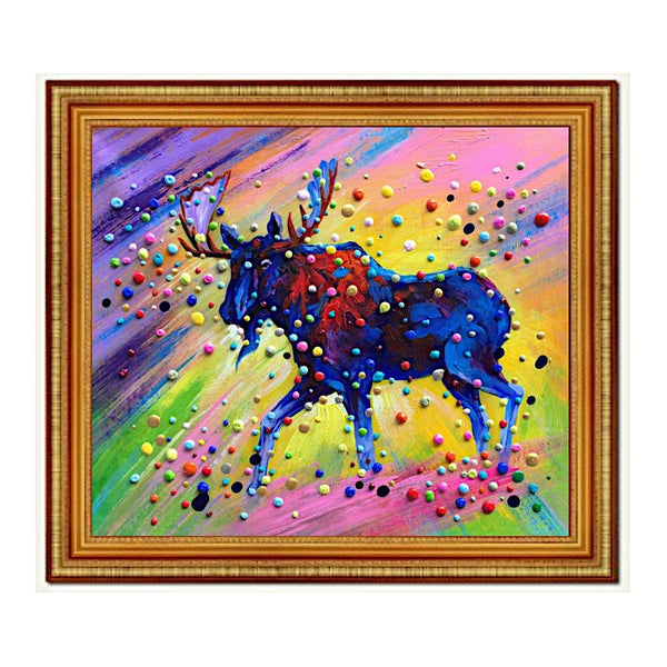 Colourful 3D Dots Wildlife Painting - Treat Haven