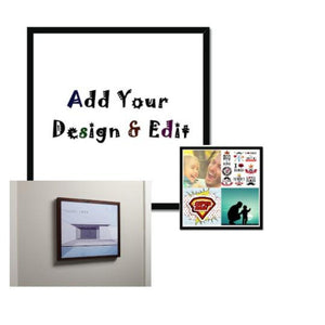 Add Your Photo Or Design Square Framed Print