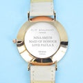 Modern - Vintage Personalised Leather Watch in Stone - Treat Haven