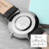Personalised Handwriting Mens Black Leather Watch - Treat Haven
