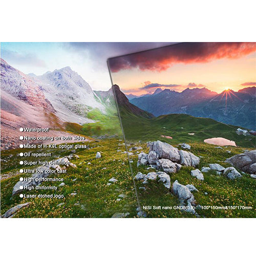 NiSi 70 x 100mm Nano IR Reverse Graduated Neutral Density Filter (ND8)