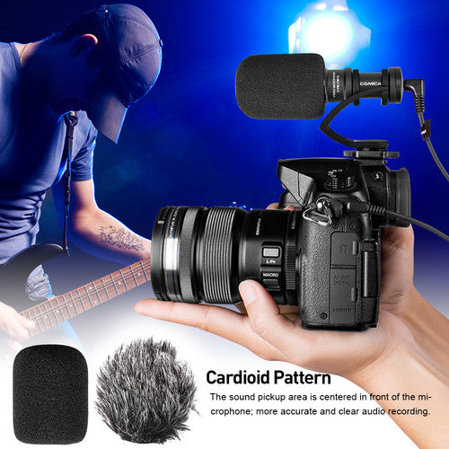 (1.1 New Year Promotion) Comica Audio CVM-VM10 II Micro Compact Directional Condenser Microphone