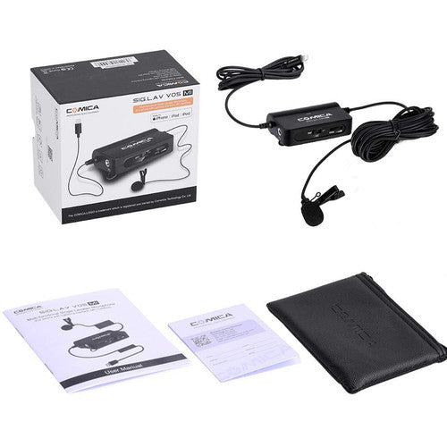 (Raya Promotion) Comica Audio CVM-V05-MI Multi-Functional Lavalier Microphone with Lightning Interface