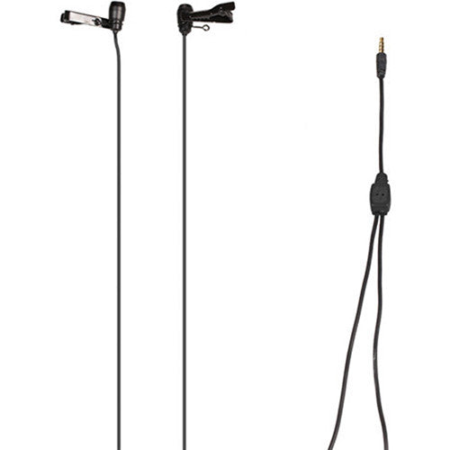 Comica Audio CVM-D02 Dual-Head Omnidirectional Lavalier Microphone