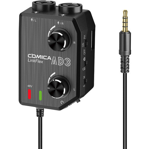 Comica Audio LINKFLEX AD3 Dual-Channel Audio Mixer for Camera and Smartphone