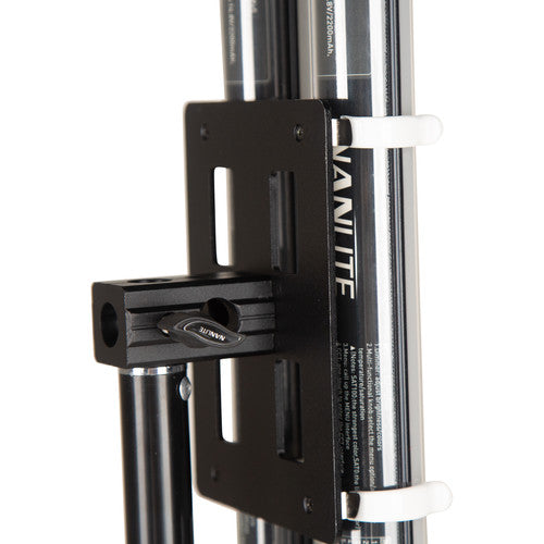 "Nanlite HD-T12-2-BHG PavoTube Double Bank T12 LED Tube Gooseneck Mount with 5/8"" Receiver"