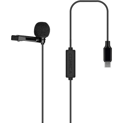 Comica Audio CVM-V01SP(UC) Omnidirectional USB Type-C Lavalier Microphone for Android Devices (2.5m)