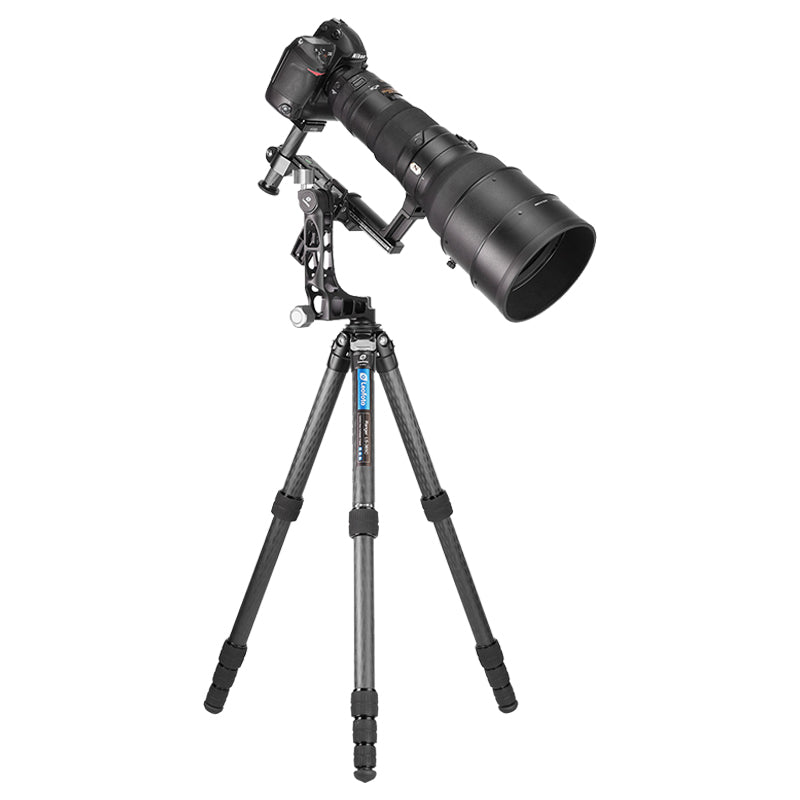 Leofoto LS-365C with PG-1 Gimbal Head 5 Section Compact Carbon Fibre Tripod